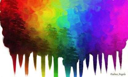 Rainbow forest by FadwaAngela