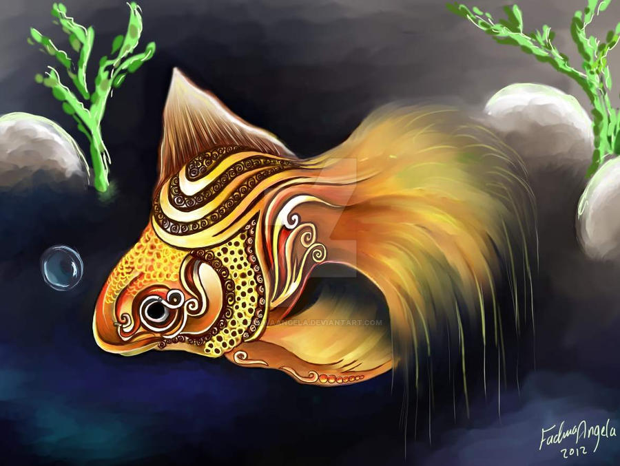 Golden fish 1 by FadwaAngela