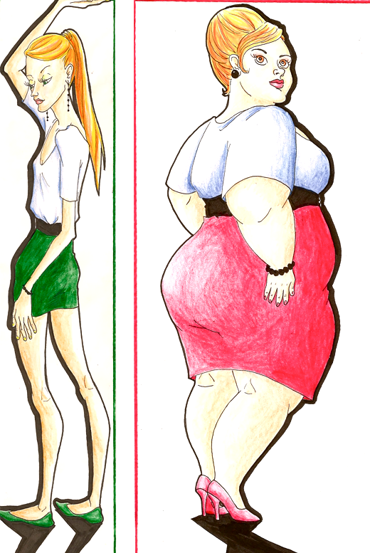 thin and fat by pomegranate pen