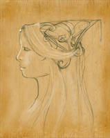 Gondorian Headdress study by TheLily-AmongThorns