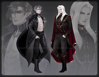 [CLOSED] Adoptable #32-33 Vampires by Zenithll