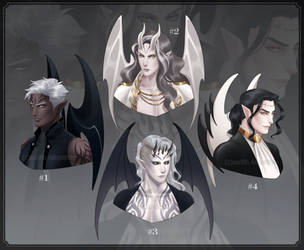 [CLOSED] Adoptable #35 Demon Bust by Zenithll