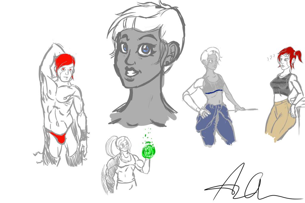 Sketch Sheets by FlashFighter212
