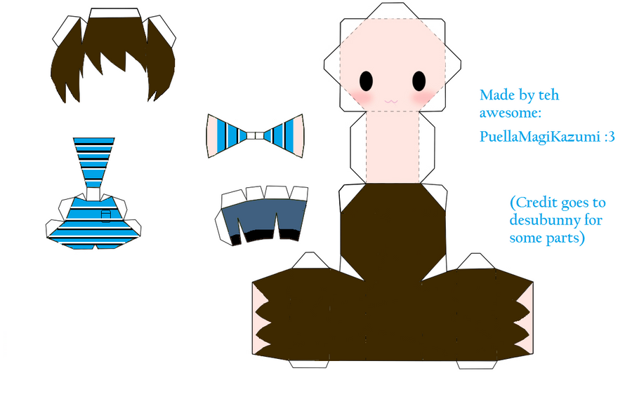 Chuggaaconroy chibi papercraft template by for Cute papercraft templates