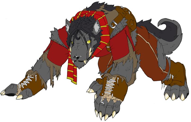 Werewolf Gaston Flats by lywolfoid