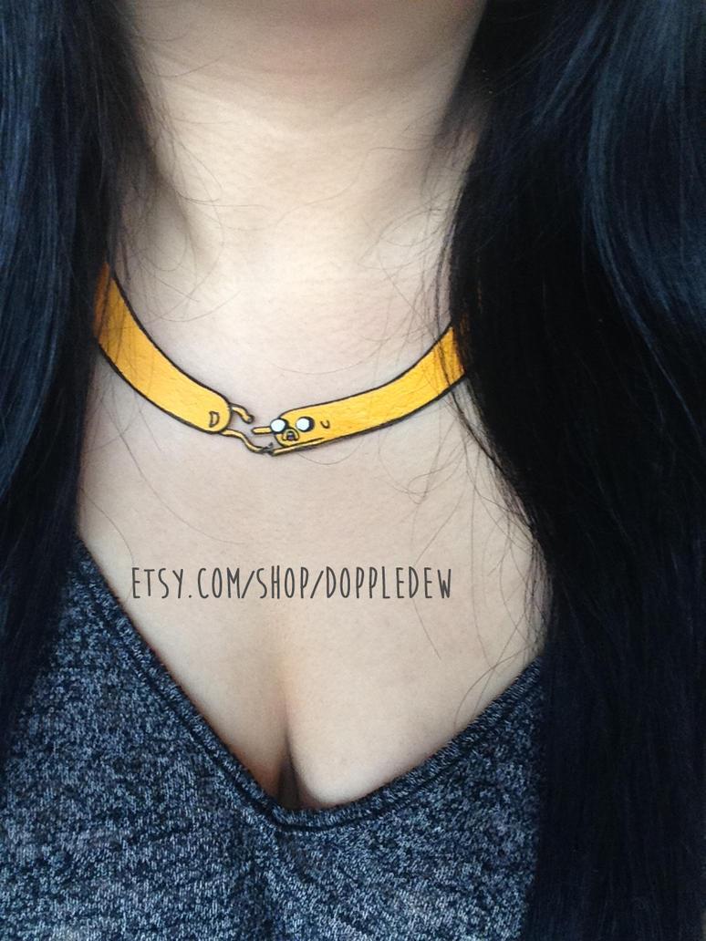 Jake Adventure Time Necklace by doppledew