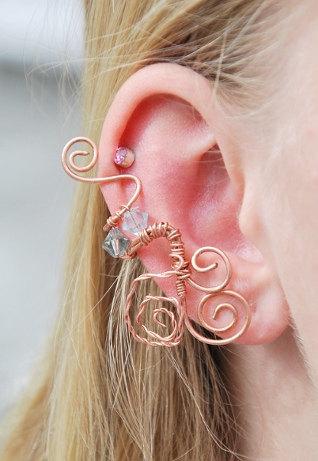 Handmade Lothlorien Ear Cuff by SashaFitzgerald