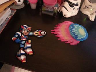 Mega Man X Perler