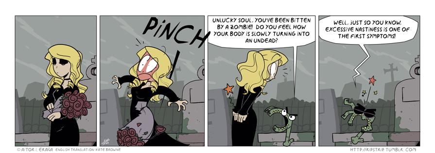 RIP zombie bite by TerminAitor