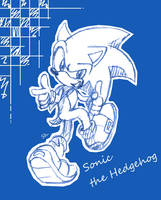 Sonic the Hedgehog by S-concept