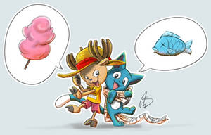 Chopper and Happy by S-concept