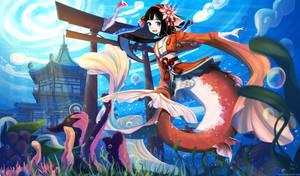Onmyoji Fanart Contest - Koi by S-concept