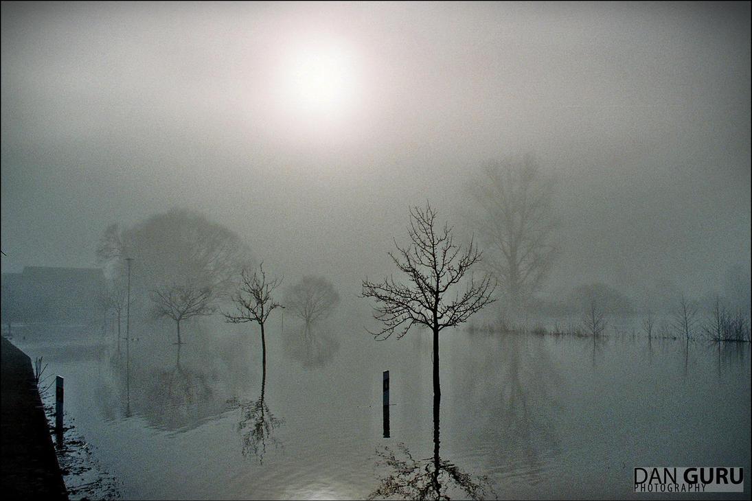 Bavarian Floods - Fog by RoqqR