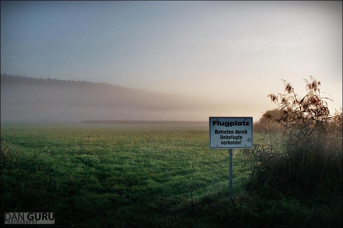 Through Fog - Airfield by RoqqR