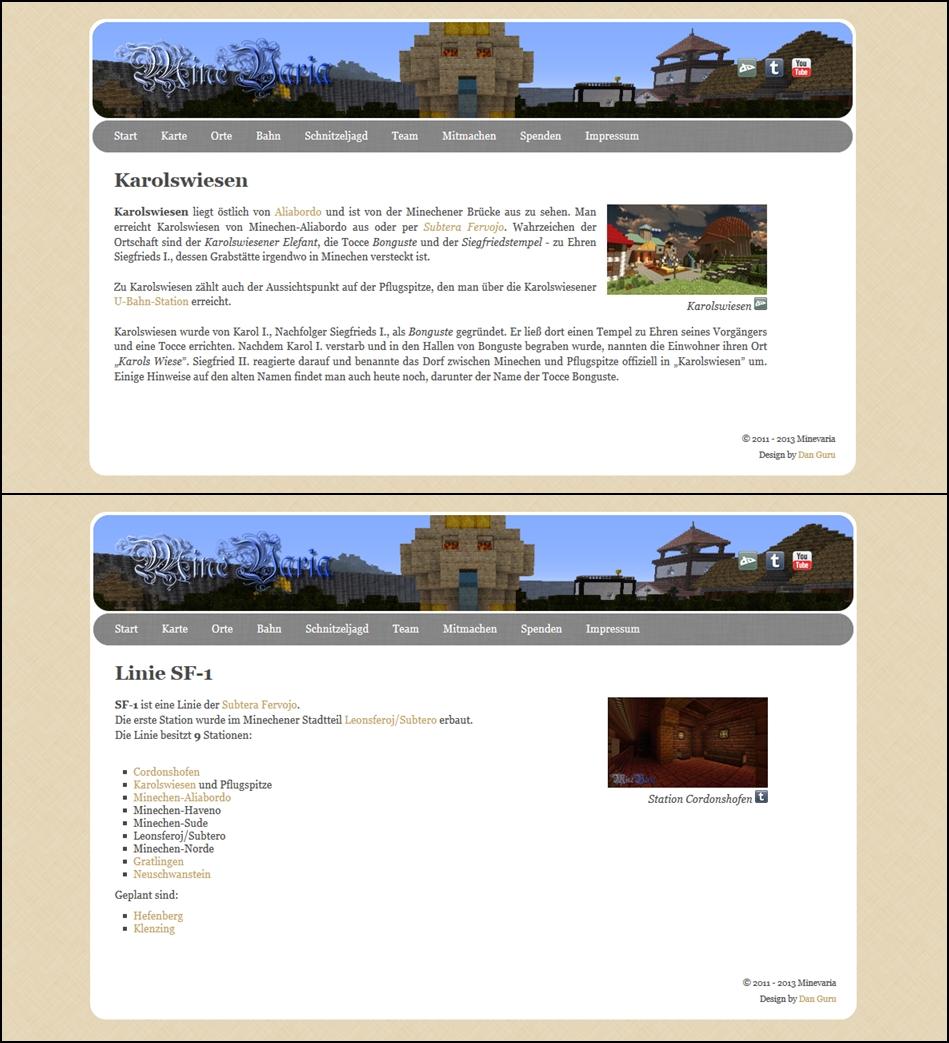 Minevaria Website 2.0