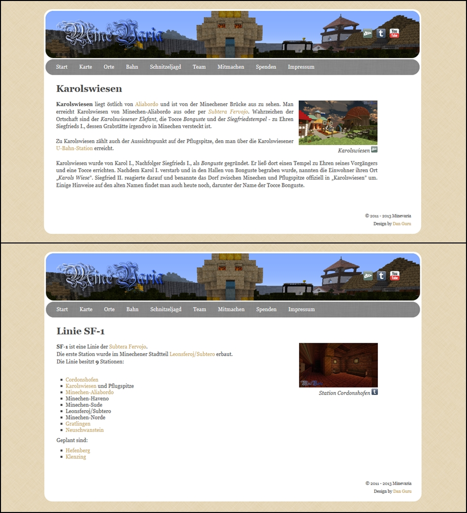 Minevaria Website 2.0 by RoqqR