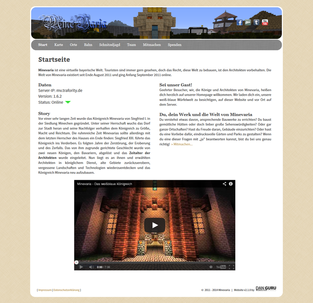 Minevaria Website 2.1 by RoqqR