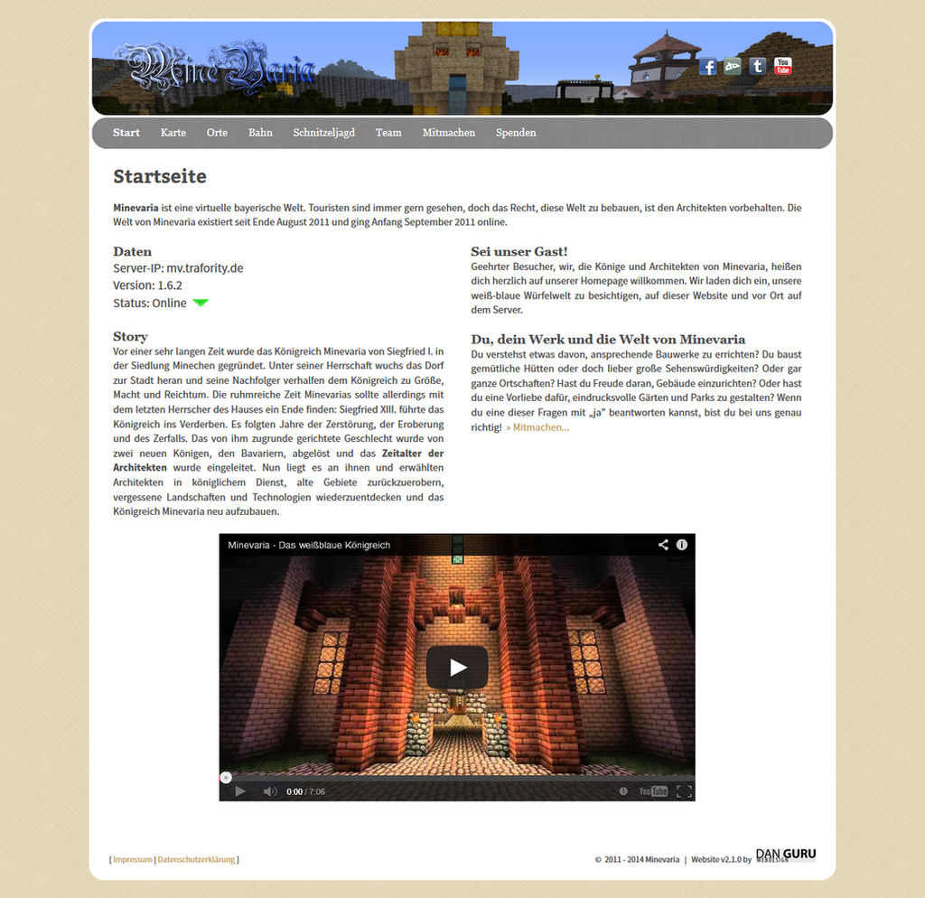 Minevaria Website 2.1
