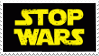 Stamp: Stop Wars by RoqqR