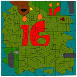 dA 16th Birthday Coloring Challenge
