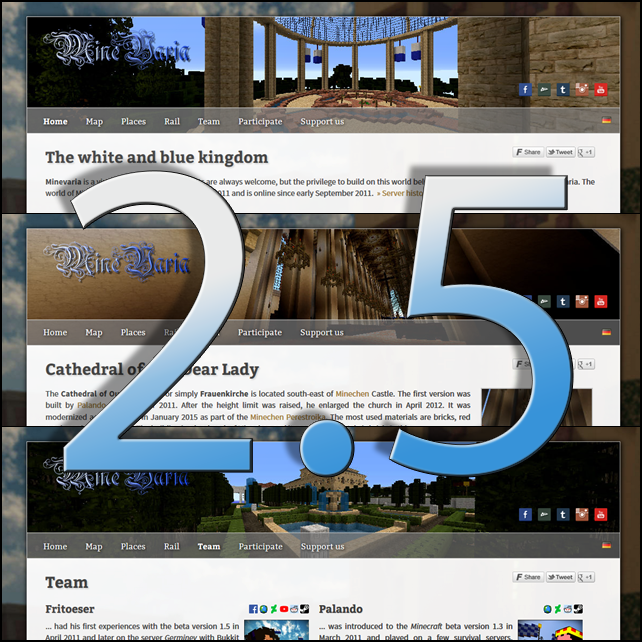 Minevaria Website 2.5 by RoqqR