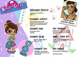 Monster High OC Nevaeh Fenrir Bio by teddy-beard