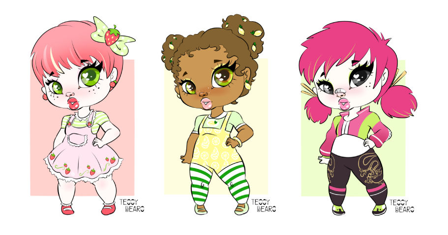 Fruit Inspired Chubbie Adoptables - OPEN