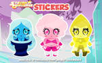Steven Universe Chunkstars Stickers - The Diamonds