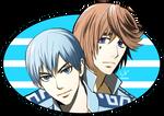 Kuroda and Ashikiba by chienu
