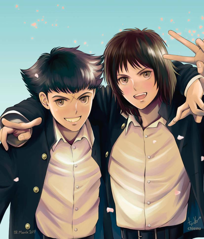 Hanji and Shun by chienu