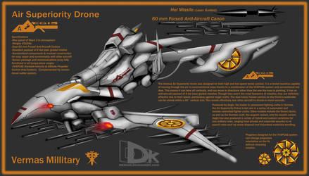 Vermas Air Superiority Drone by DKDevil