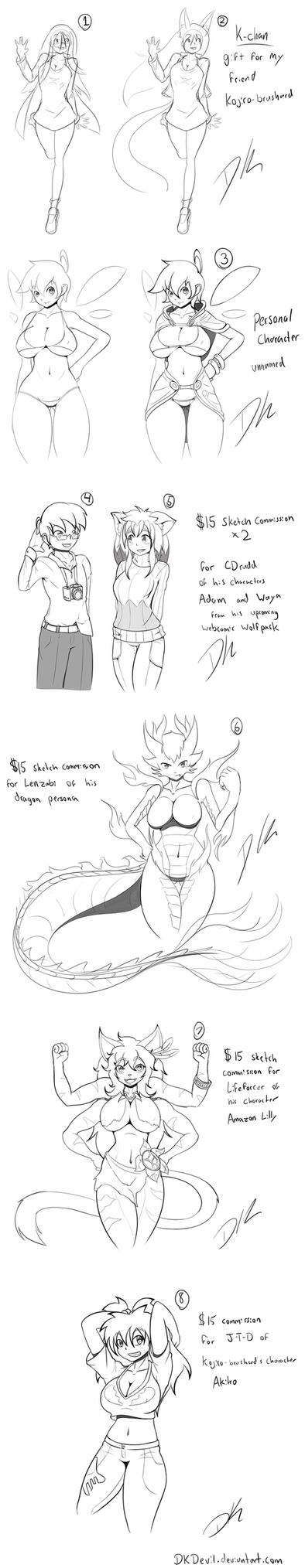 Sketch and Commission dump #1 2014 by DKDevil
