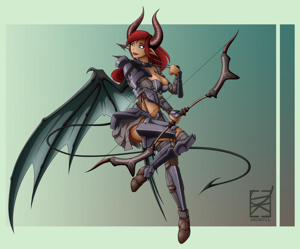 Demon Girl Oct 2015 by DKDevil
