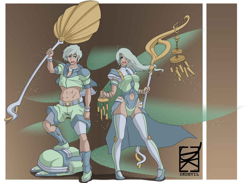 Character Design Challenge Patreon : Character design challenge wind clerics by dkdevil on