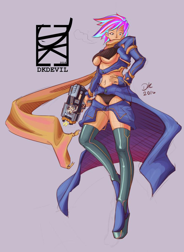 Gun Girl by DKDevil