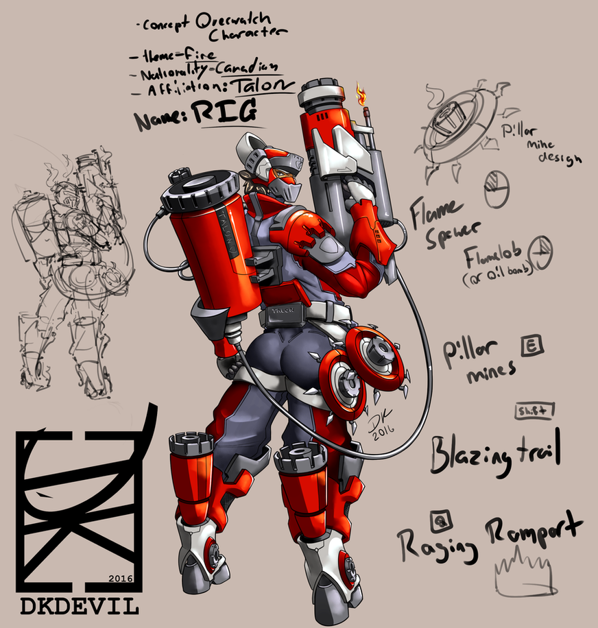Character Design Overwatch : Overwatch fan character design rig by dkdevil on deviantart
