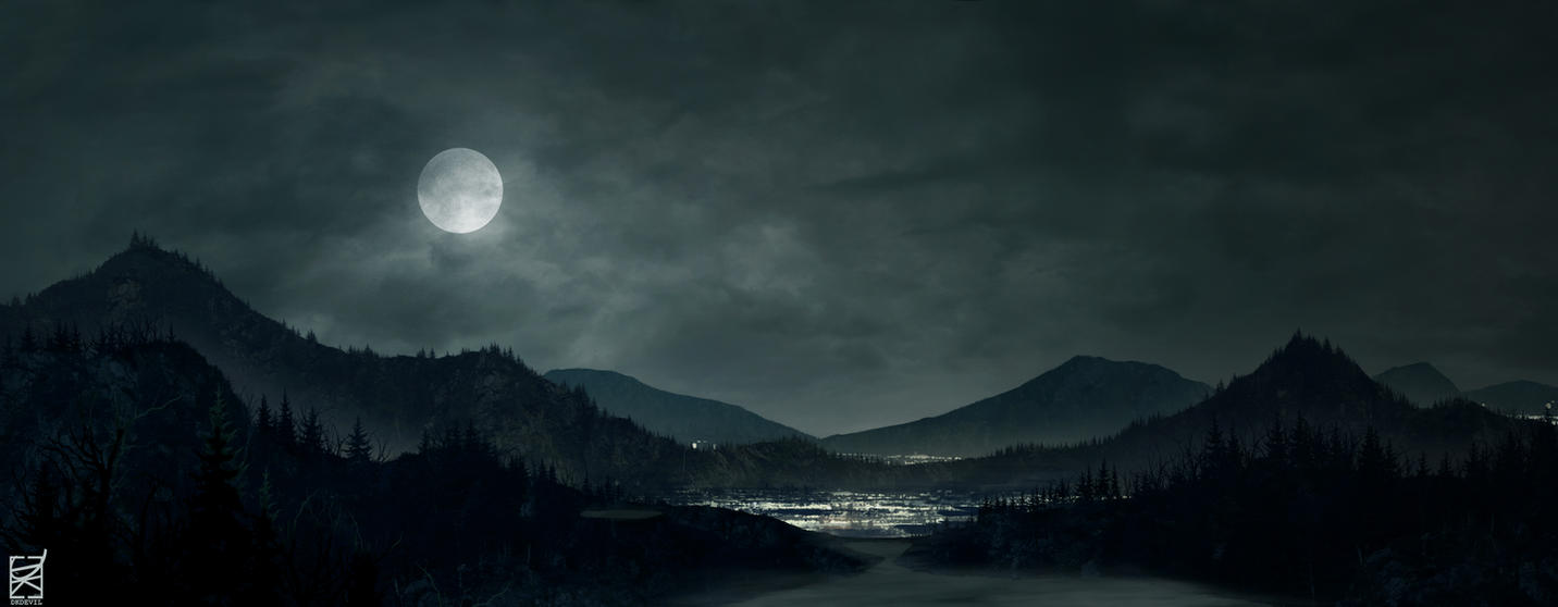 Mountains at Night - Syn Studio HW by DKDevil