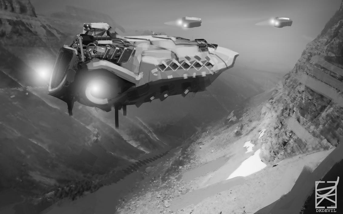 Speedpaint Spaceship - Syn Studio HW by DKDevil