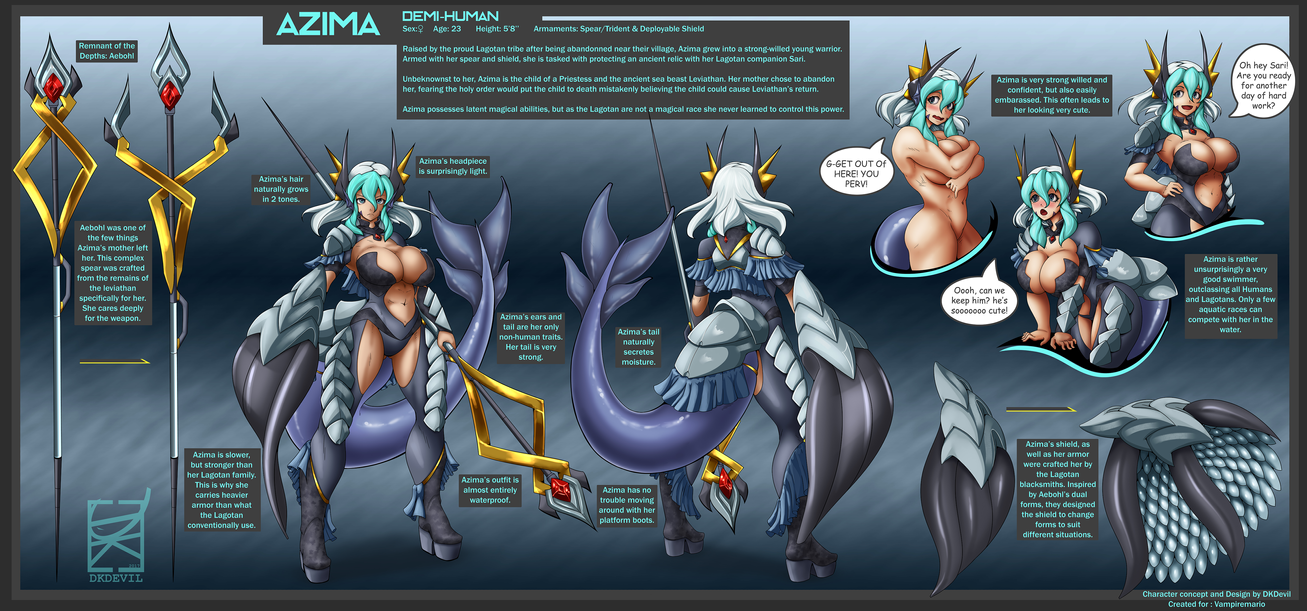 Azima Character Refsheet Commission by DKDevil