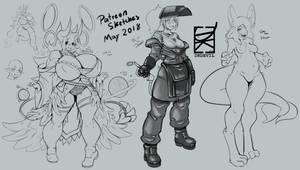 May 2018 Patreon sketch batch 1 by DKDevil