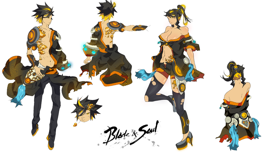 Blade N Soul Anime Characters : Blade and soul costume design by rayjii on deviantart