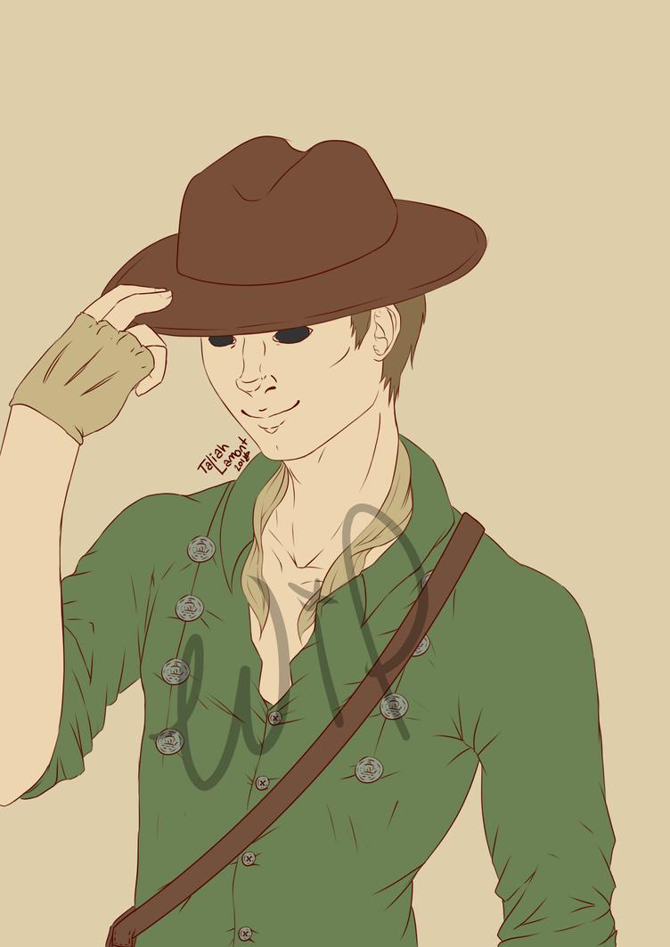 Deanmonic Cowboy WIP (colour) by AKA-Osuke