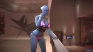 Mass Effect 3: Asari in Anderson's apts. [Bikini]