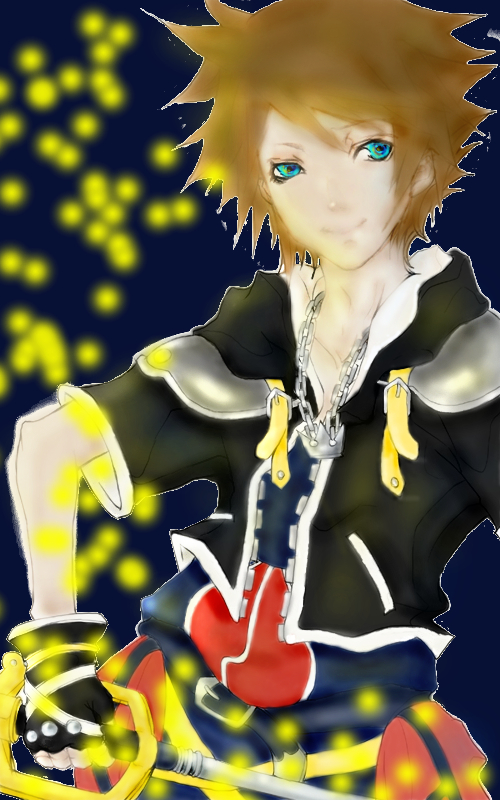 kingdom hearts II : Sora by narusasugaa