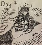 Inktober 2017 - Day 7 - Shy