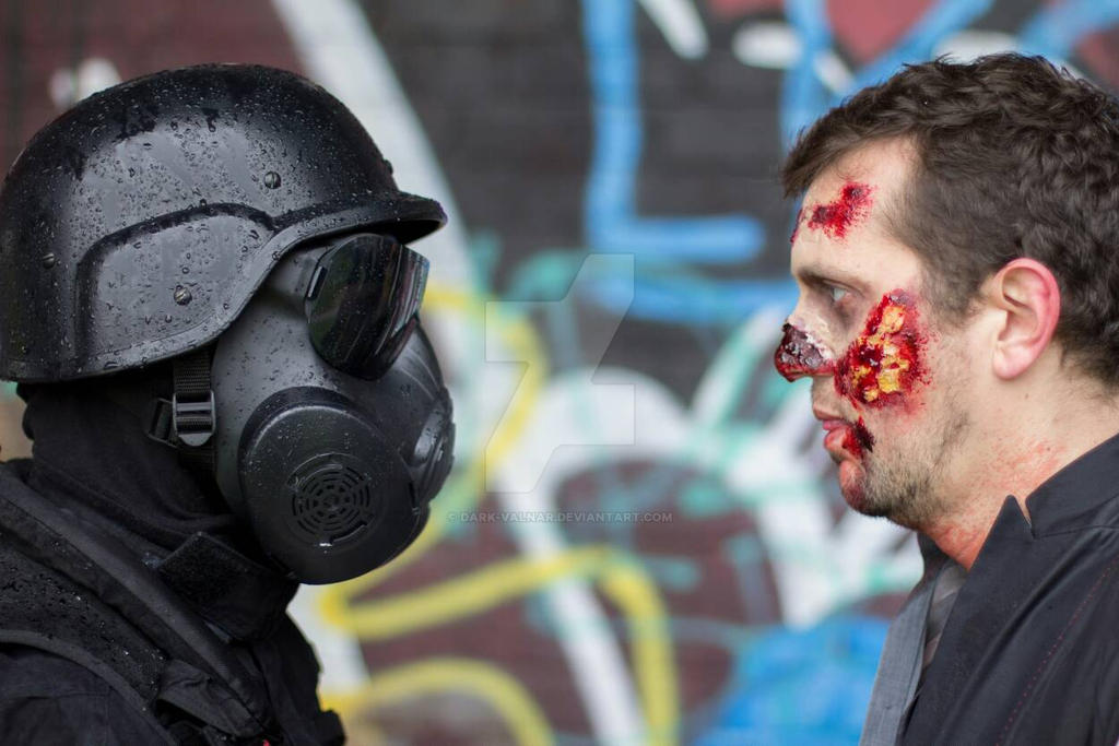 Resident Evil - HUNK vs ZOMBIE by Dark-Valnar