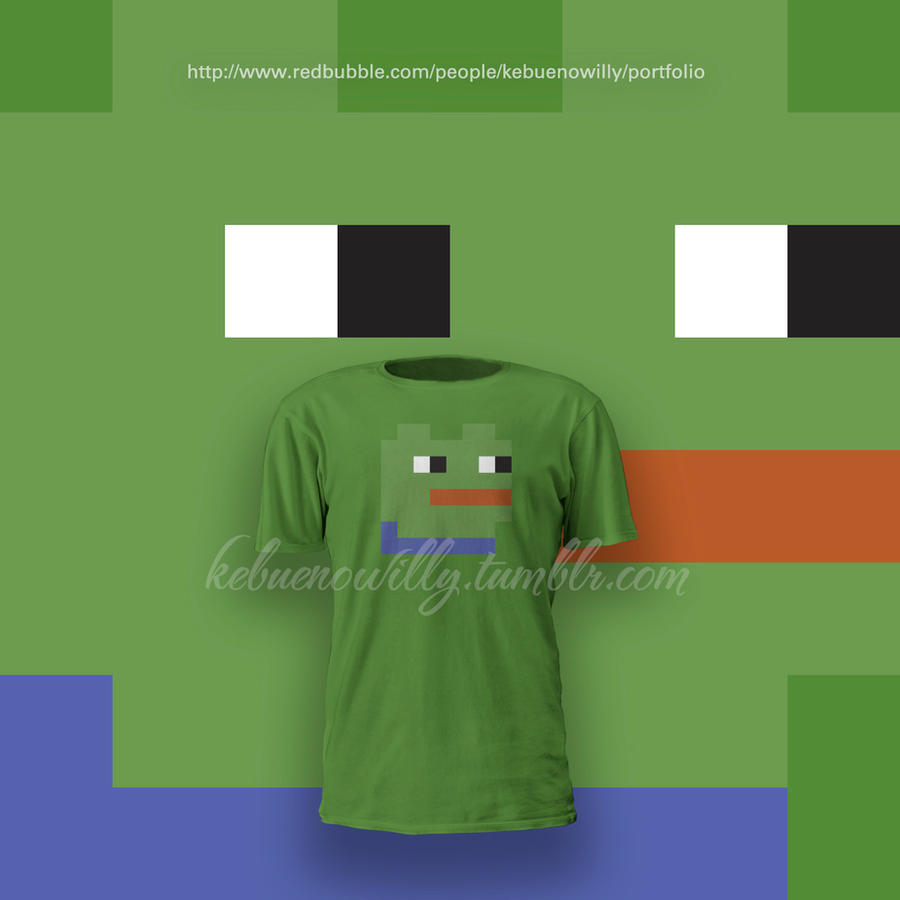 pixel_pepe_the_frog_t_shirt_by_kebuenowilly d8wze8k pixel pepe the frog t shirt by kebuenowilly on deviantart