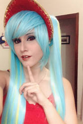 Just a preview: Silent Night Sona cosplay! by TheSweetAmy