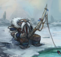 Daily Sketch 4 - Tuskarr by TehSasquatch