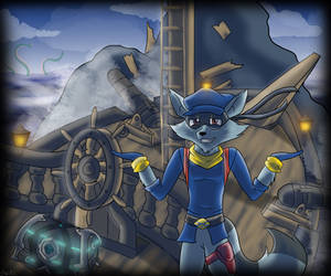 [Commission] Shrugging Sly cooper on a Sloop